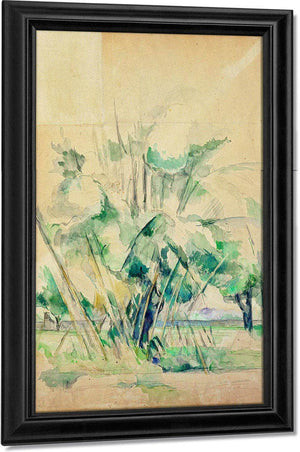 Reeds At Jas De Bouffan By Cezanne Paul