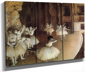Rehearsal Of A Ballet On Stage By Edgar Degas