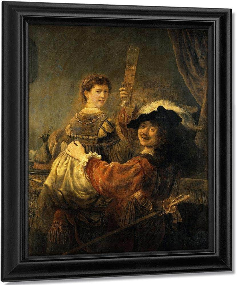 Rembrandt And Saskia In The Parable Of The Prodigal Son By Rembrandt