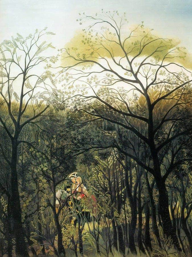 Rendezvous In The Forest 1889 By Henri Rousseau