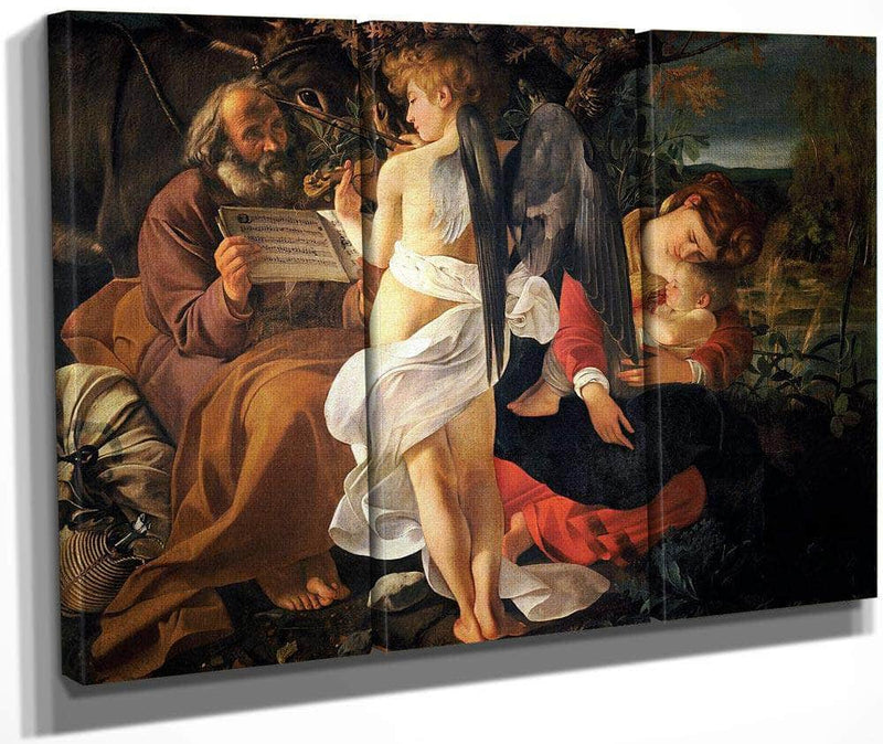 Rest On The Flight To Egypt By Caravaggio
