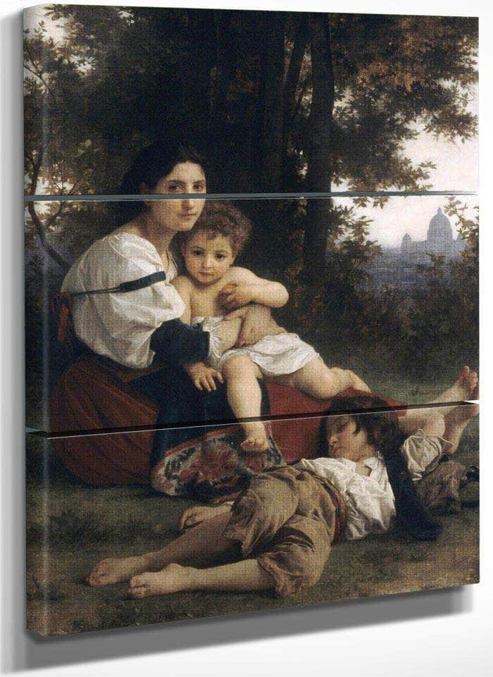 Rest By Bouguereau Adolphe William