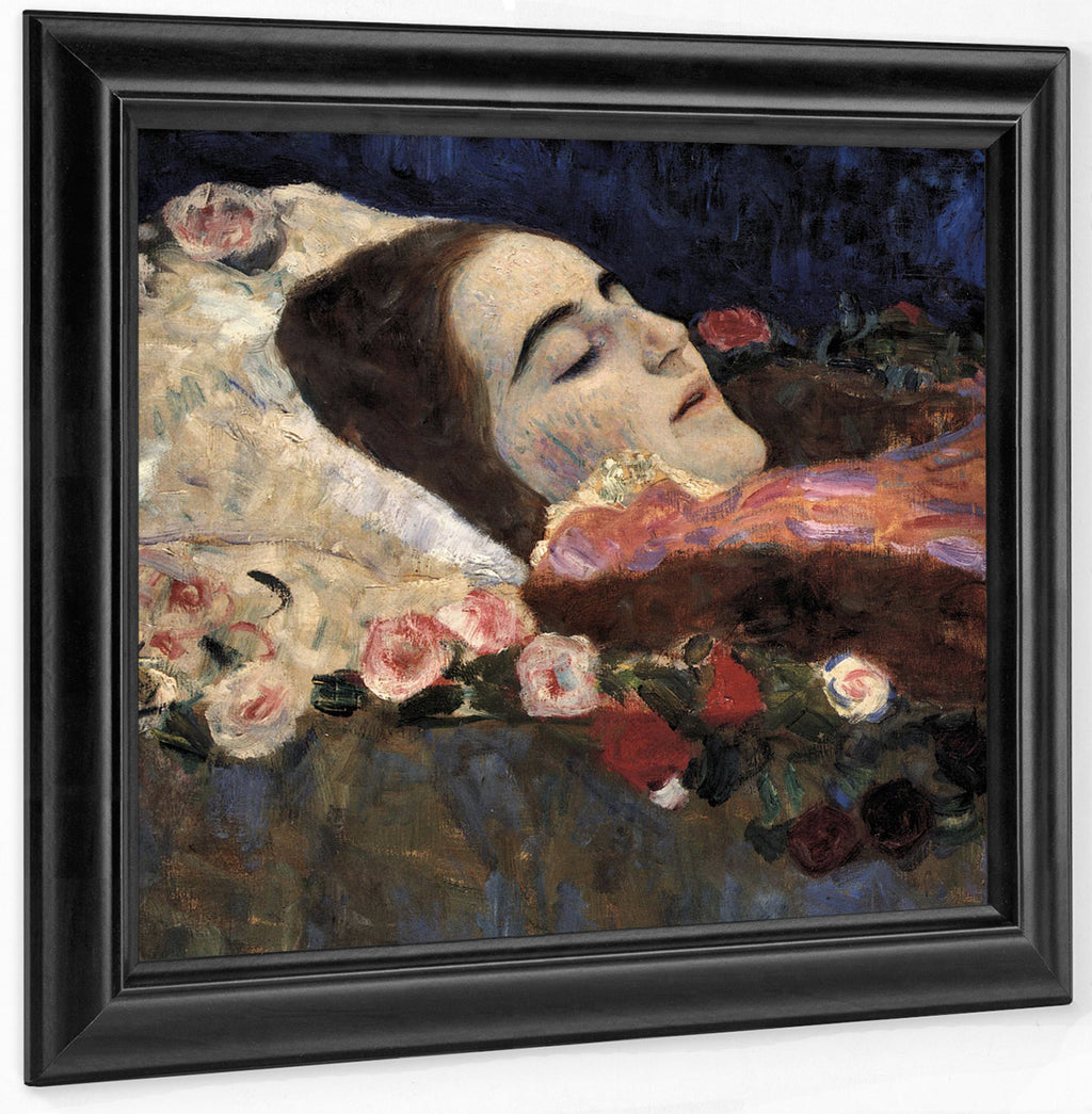 Ria Munk On Her Deathbed 1912 50X50Cm Private Collection By Gustav Klimt