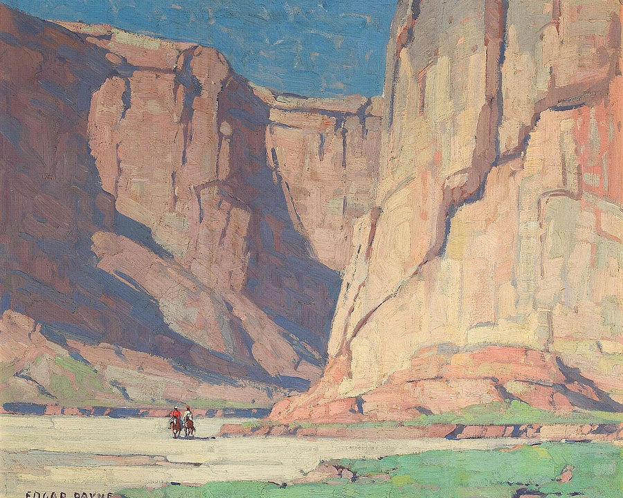 Riders In The Canyon De Chelly, Arizona By Edgar Payne