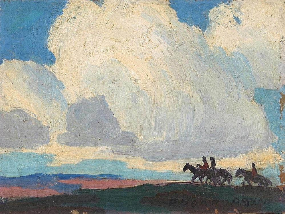 Riders Under The Clouds By  Edgar Payne