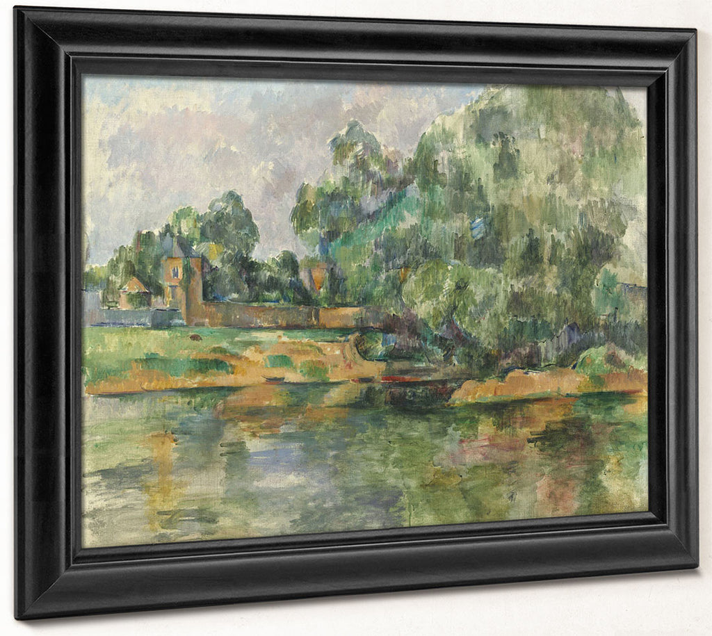 Riverbank By Paul Cezanne