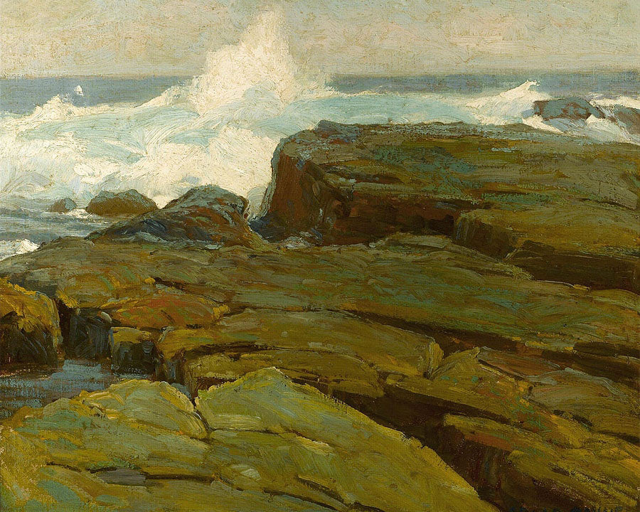 Rocks And Sea By Edgar Payne