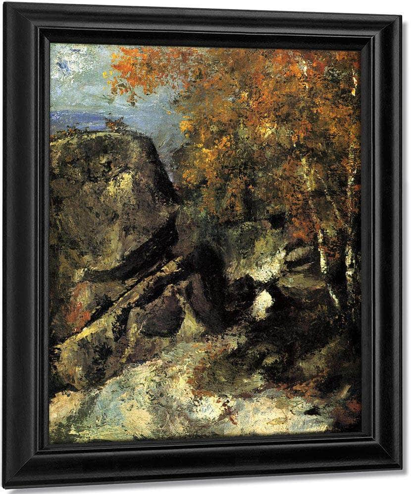 Rocks In The Forest 1868 1 By Paul Cezanne