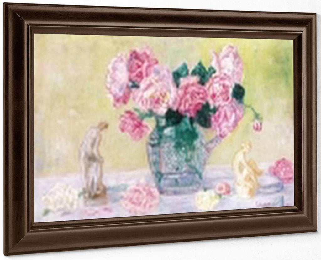Roses And Tanagra Figurines By James Ensor