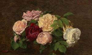 Roses De Nice On A Table By Henri Fantin Latour