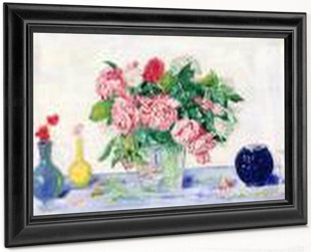 Roses, Tanager And Vases By James Ensor