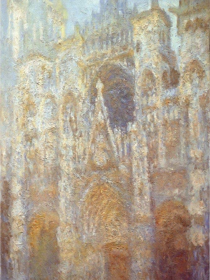 Rouen Cathedral Frist Light By Claude Monet