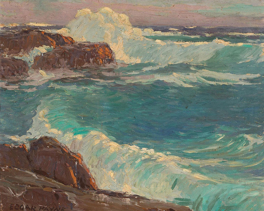 Rough Seas Along A Rocky Coast By Edgar Payne