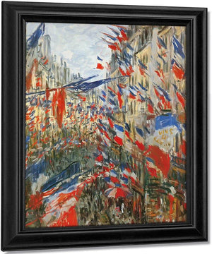 Rue Saint Denis Festivities Of 30 Jun  By Claude Monet