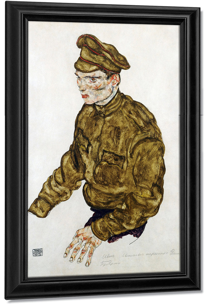 Russian Prisioner Of War By Egon Schiele