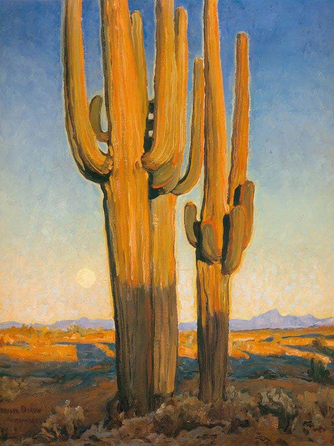 Saguaros Sunset By Maynard Dixon