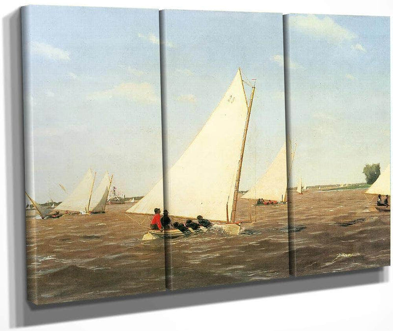 Sailboats Racing On The Delaware 1874 By Thomas Eakins