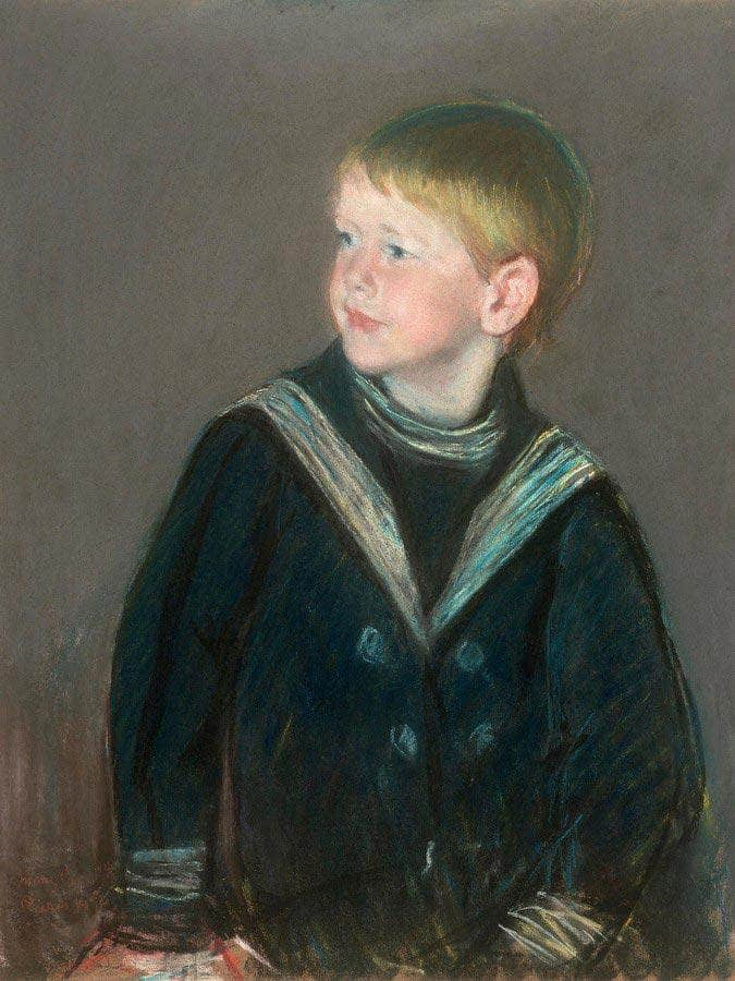 Sailor Boy Portrait Of Gardner Cassatt As A Child By Cassatt Mary