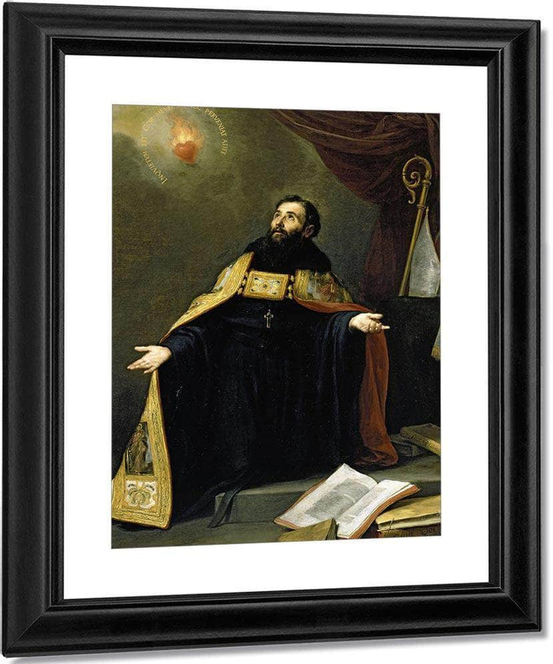 Saint Augustine In Ecstasy By Bartolome Esteban Murillo