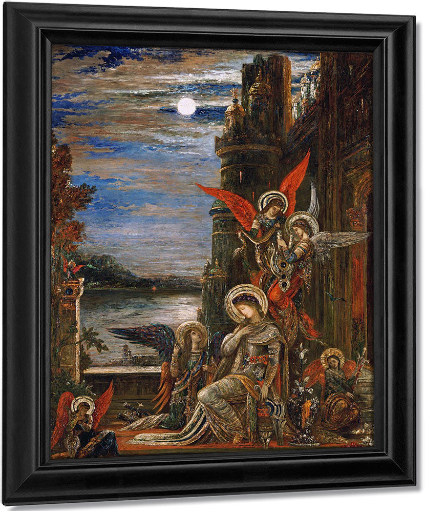 Saint Cecilia. (The Angels Announcing Her Coming Martyrdom) By Gustave Moreau