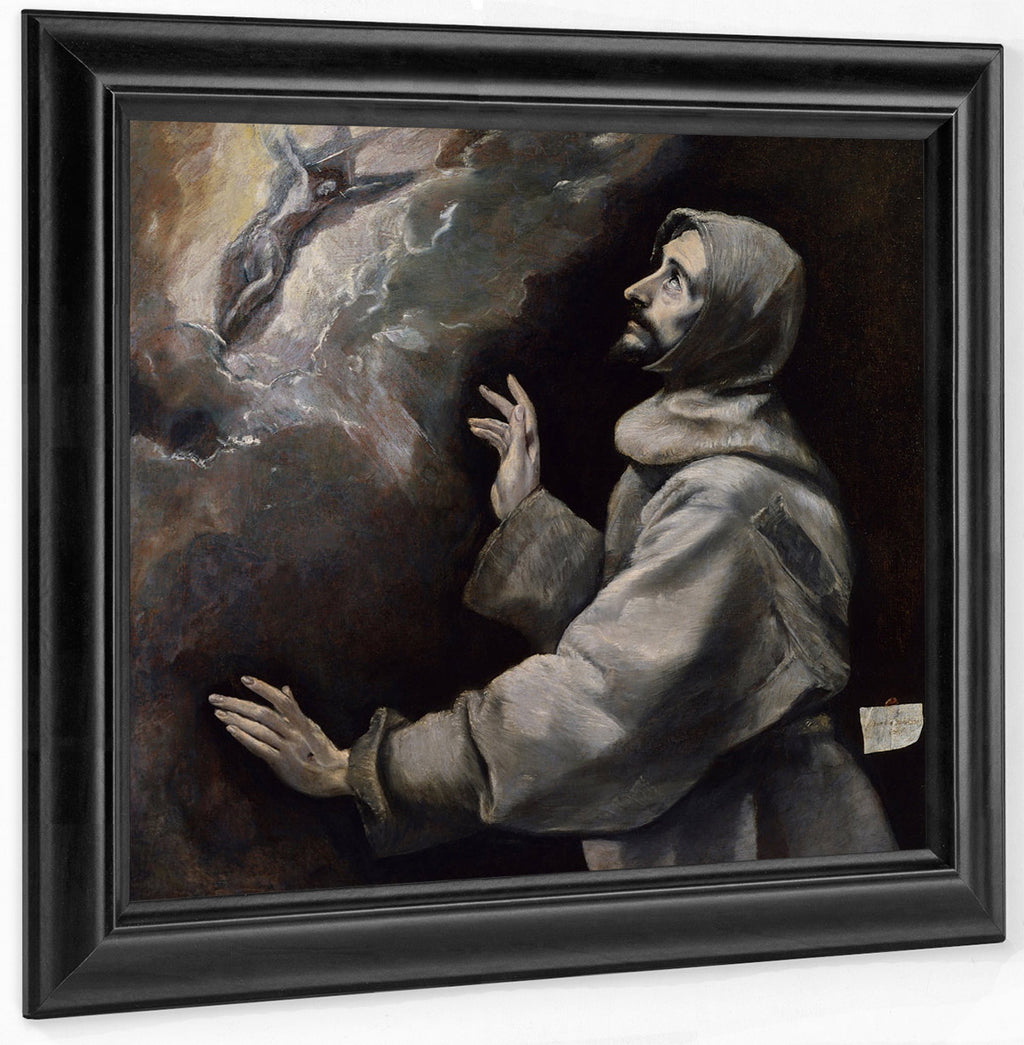 Saint Francis Receiving The Stigmata 1585 1590 102X97Cm The Walters Art Museum 37 424 By El Greco