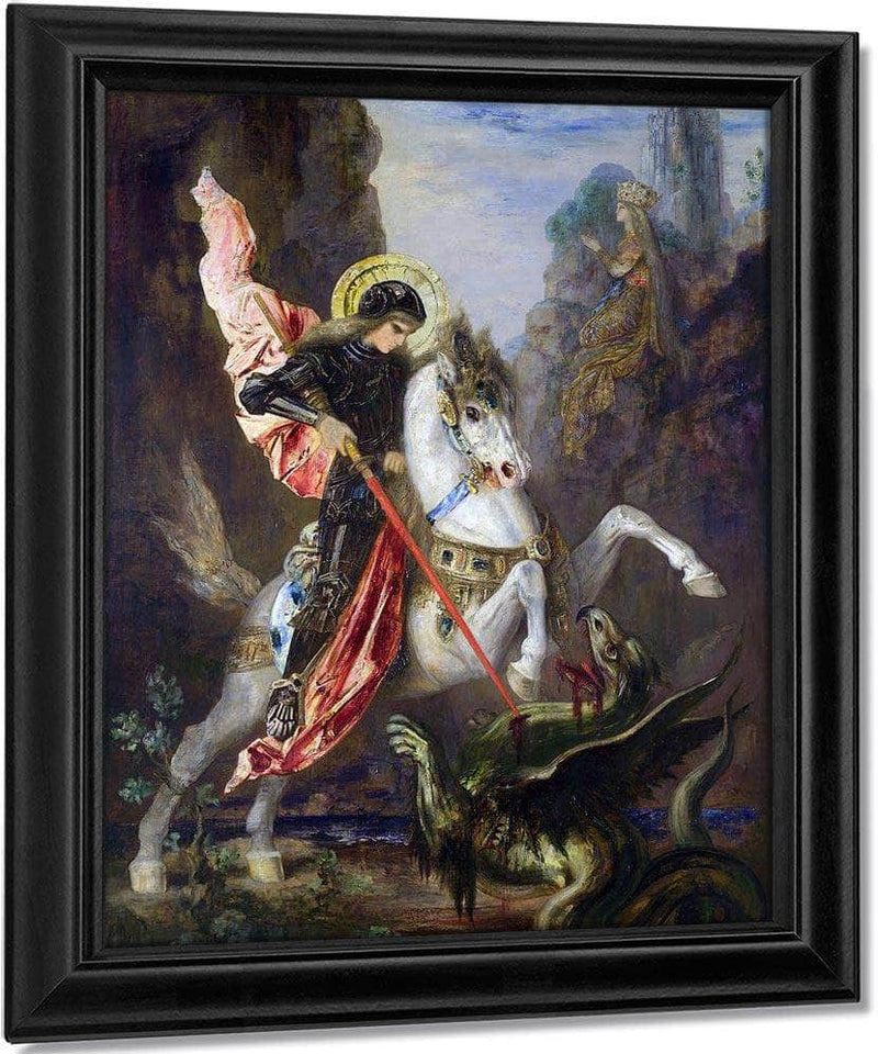 Saint George And The Dragon 1890 By Gustave Moreau