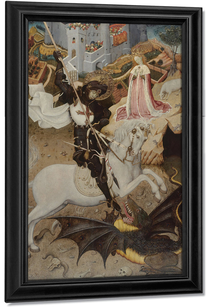 Saint George Killing The Dragon By Bernat Martorell