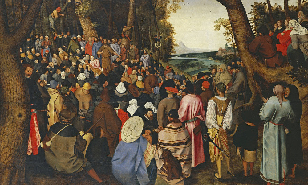 Saint John The Baptist Preaching By I