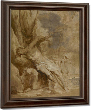 Saint Sebastian Tended By An Angel By Anthony Van Dyck