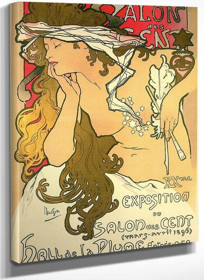 Salon Des Cent 20Th Exhibition By Alphonse Mucha