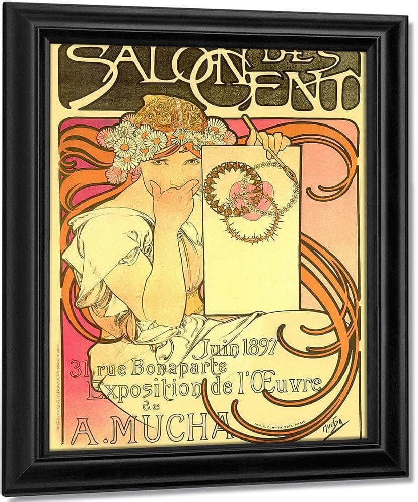 Salon Des Cent Exhibition Of The Work Of A Mucha By Alphonse Mucha