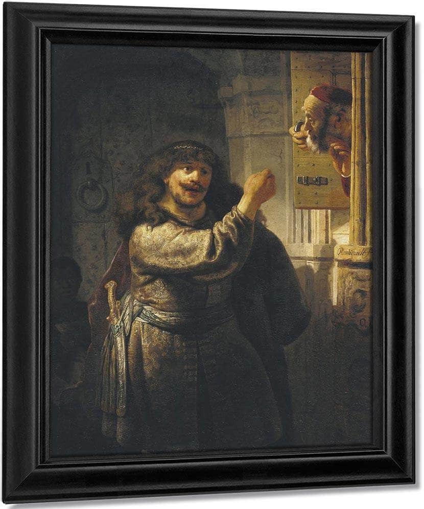 Samson Threatening His Father In Law By Rembrandt