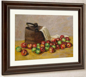 Sap Bucket And Apples By Walt Kuhn