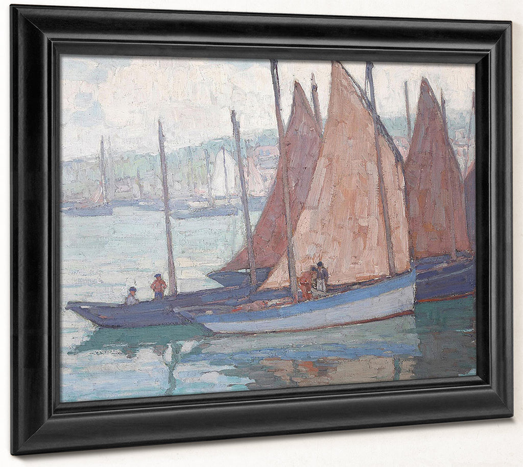 Sardine Boats (Gray Day) By Edgar Payne