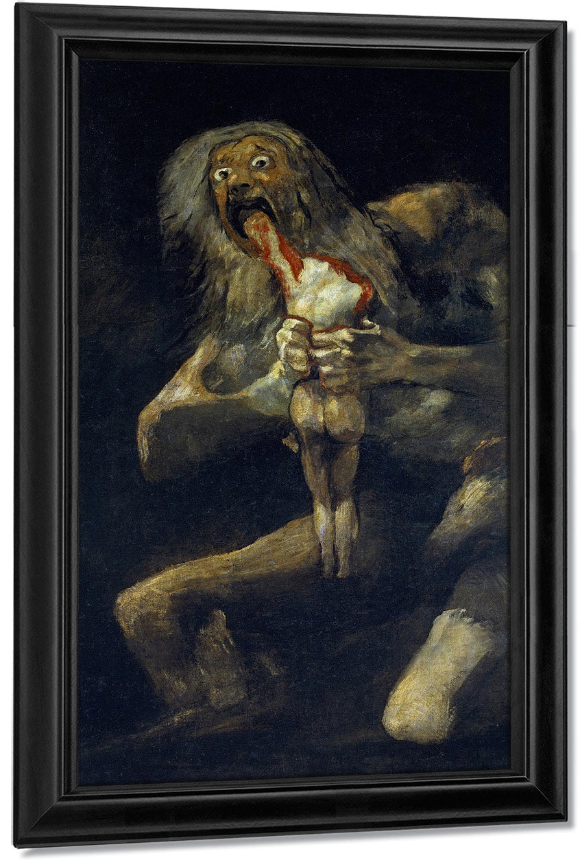 Saturn Devouring One Of His Children By Francisco De Goya