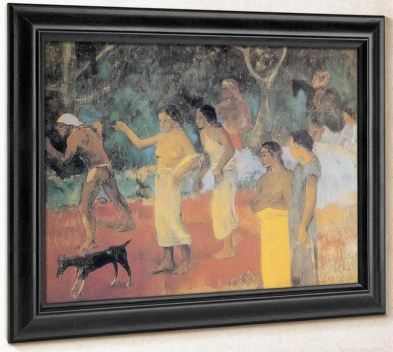 Scene From Tahitian Life By Paul Gauguin