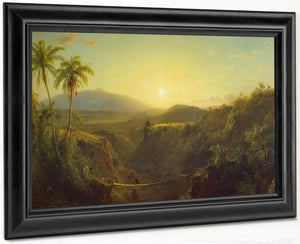 Scene In The Andes By Fredric Edwin Church