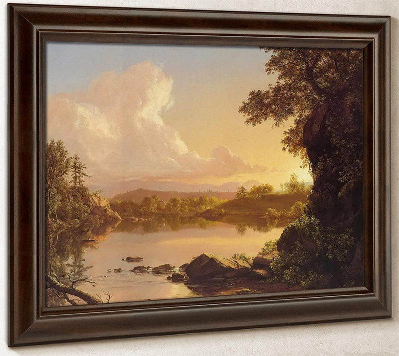 Scene On The Catskill Creek New York By Fredric Edwin Church