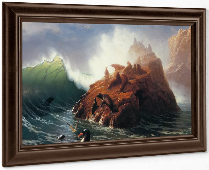 Seal By Rock By Albert By Bierstadt