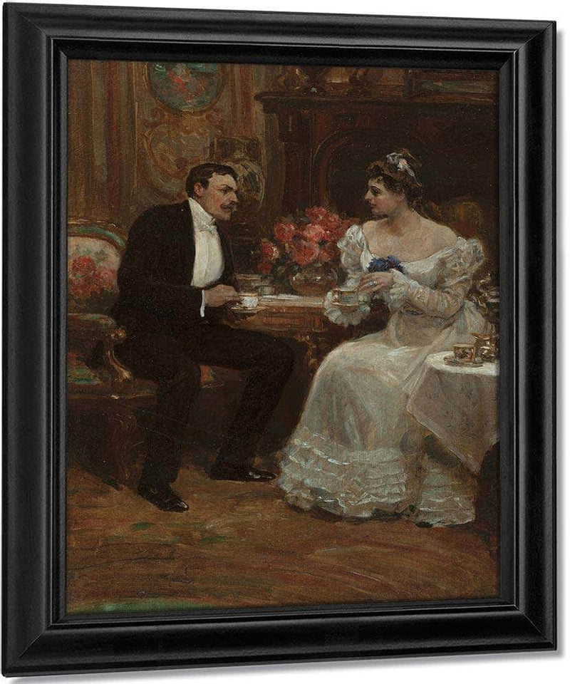 Seated Couple Having Tea 1898 By Alice Barber Stephens