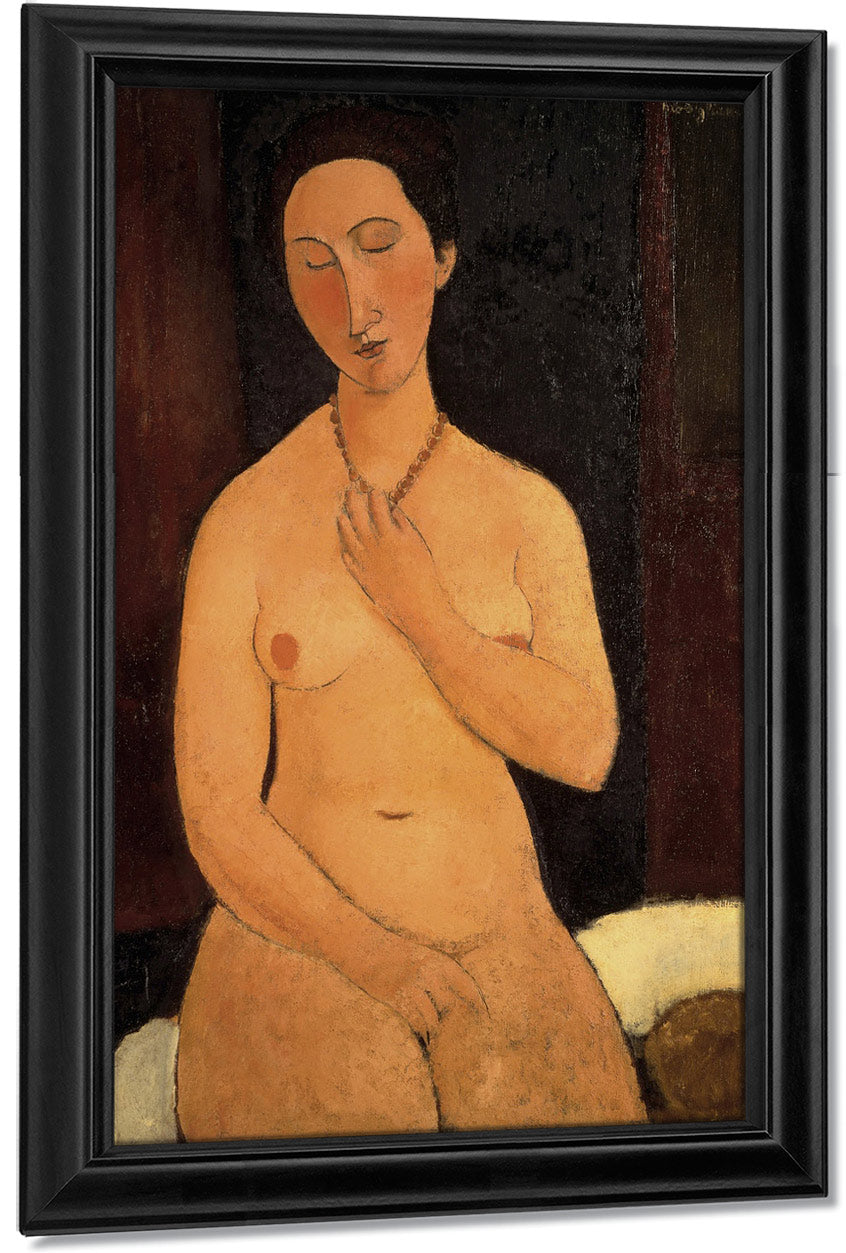 Seated Nude With Necklace By Amedeo Modigliani
