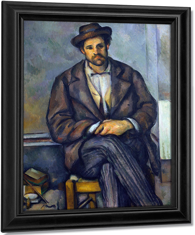 Seated Peasant By Paul Cezanne