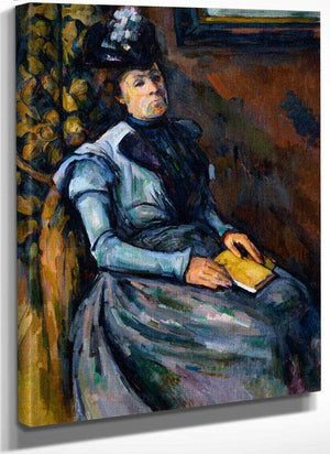 Seated Woman In Blue By Cezanne Paul