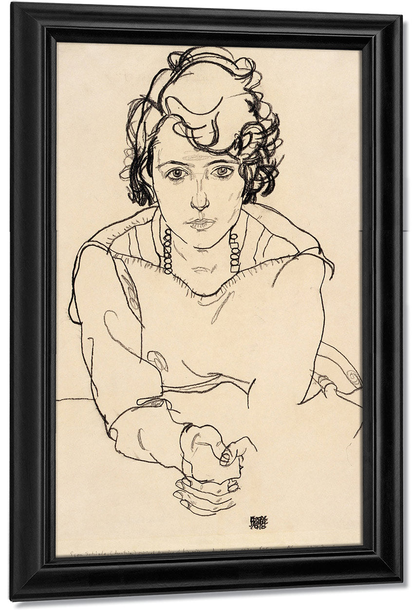 Seated Woman By Egon Schiele
