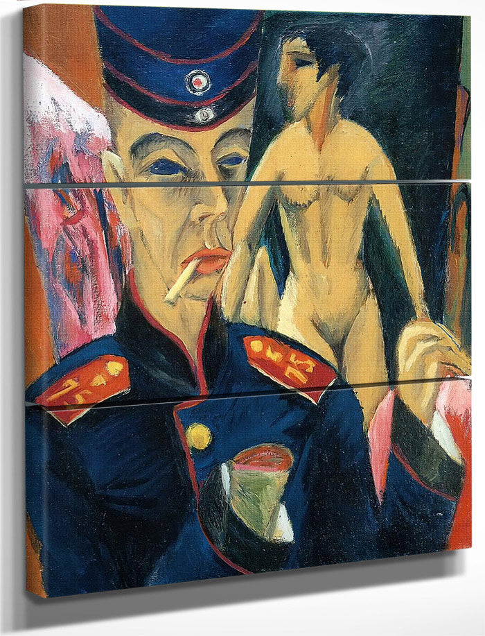 Self  Portrait As Soldier By Ernst Ludwig Kirchner