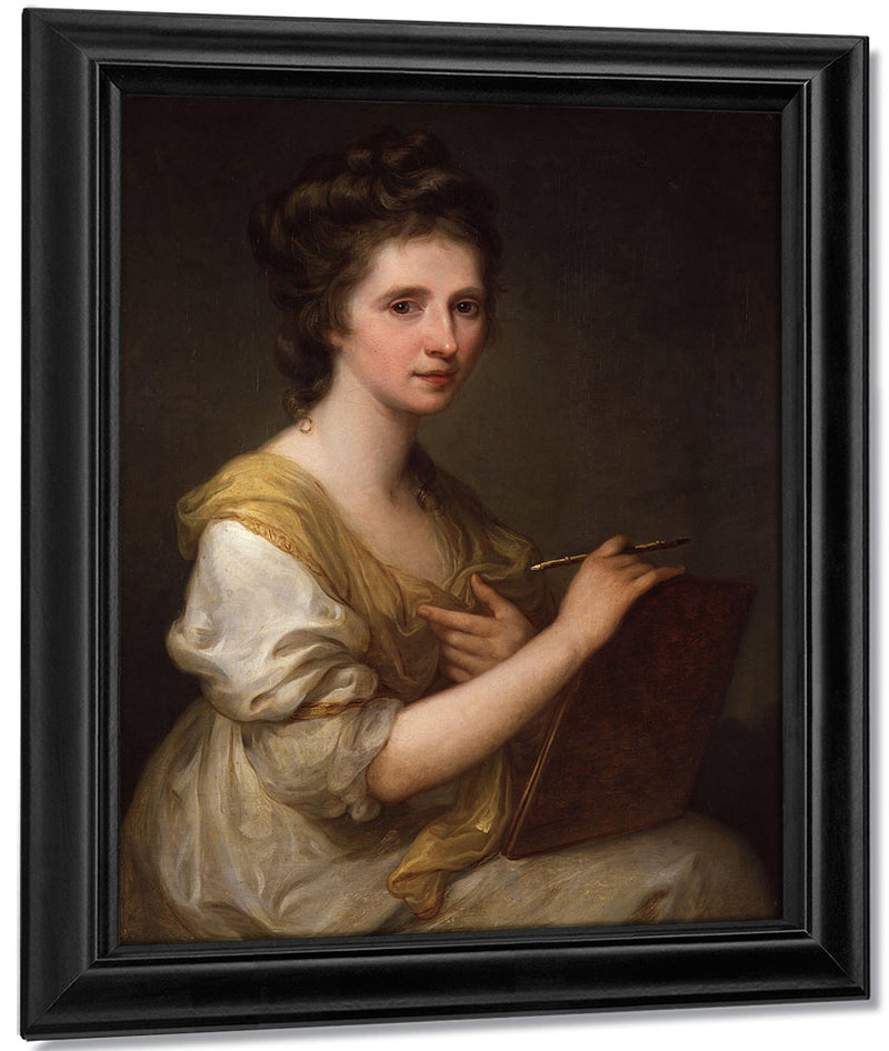 Self Portrait 1770 1775 73 7X61Cm National Portrait Gallery Npg430 By Angelica Kauffmann