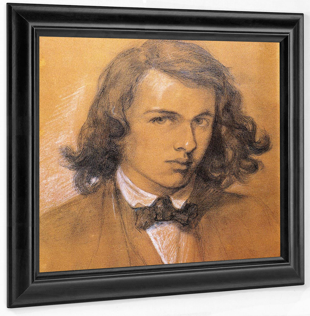Self Portrait 1847 Chalk Pen National Portrait Gallery By Dante Gabriel Rossetti
