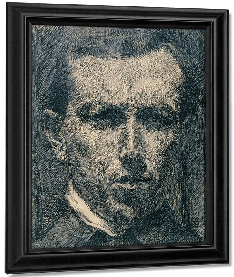 Self Portrait 1910 Ink And Graphite 26 X 22 2 Cm Met By Umberto Boccioni