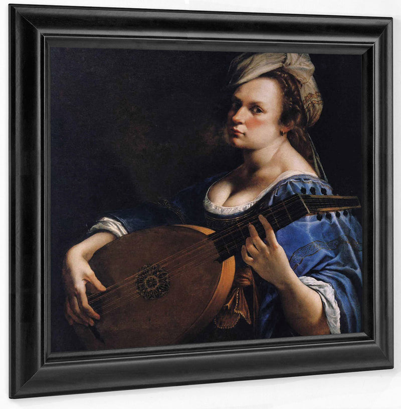 Self Portrait As A Lute Player 1617 By Artemisia Gentileschi