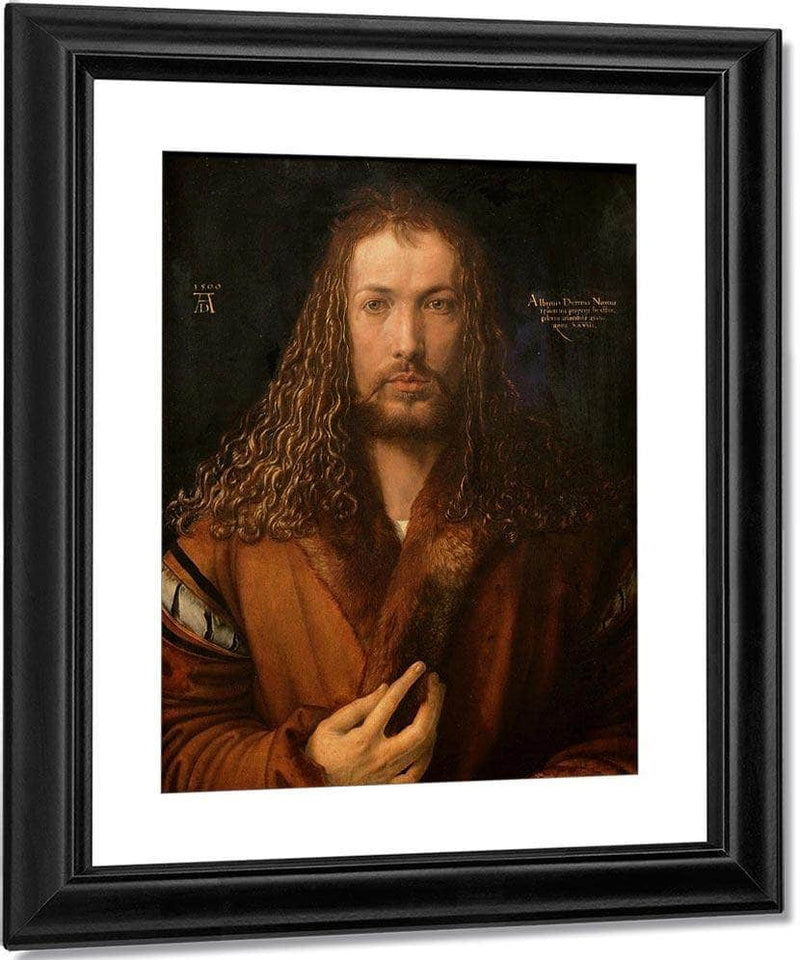 Self Portrait At Age 28 1500 By Albrecht Durer